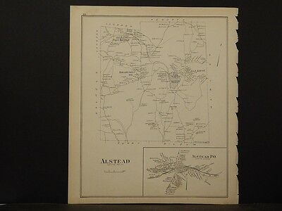 New Hampshire, Cheshire Co. Map, Marlowe Reversable, Single  Pg 1892 L4#85
