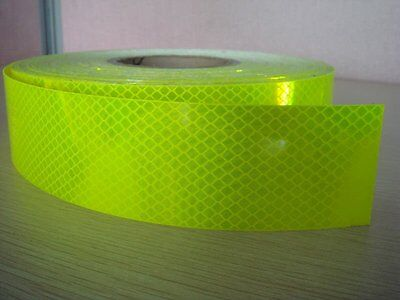 Fluro Diamond Grade Hi-Vis Yellow 4083 Class 1W Reflective Tape 50mmx45.7M Roll