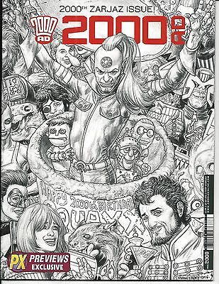 2000 AD PROG # 2000 (PX Exclusive B&W Cover, 2nd Print, 28 SEPT 2016), NM NEW