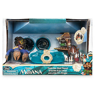 Disney Store Moana Projection Boat Play Set New with Box