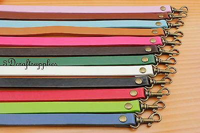 36 cm PU leather handle purse handles with hooks for bag 10 colors CF84