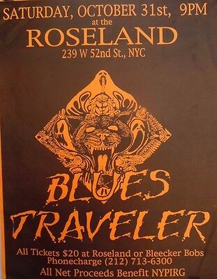 Blues Traveler | Roseland New York City | Orig. 1990s Concert Poster