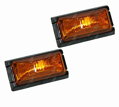 LED Trailer Lights Amber Side Markers 12V Truck Caravan Submersible Pair