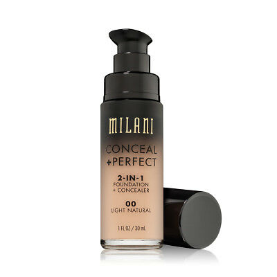 MILANI Conceal + Perfect 2-In-1 Foundation + Concealer - Light (Free Ship)