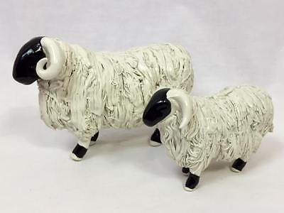 Porcelain Pottery Bighorn Sheep Figurine Pair, From Fearington Village