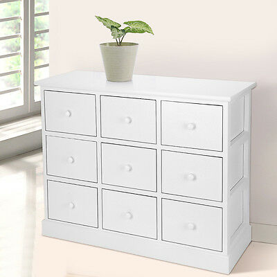 Chest of Drawers 9 Bedroom Home Furniture Unit Wooden Bedside Storage Cabinet