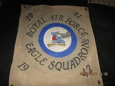 Wwii Royal Air Force Eagle Squadron's 1941-42  Ready Room    Wall Flag