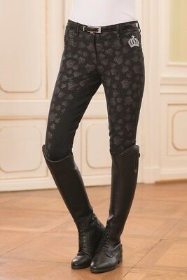 Breeches-Silver Crown Allover 3/4 Seat by 'G' by HKM-4981 RRP $199.95