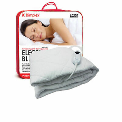 Dimplex Pillow Top Fitted Electric Blanket King/Queen/Single Sizes Heat/Heater