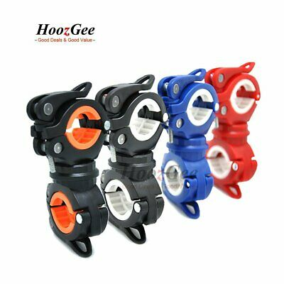 360° Rotation Cycling Bike Bicycle Front Flash Light Torch Clamp Mount Holder