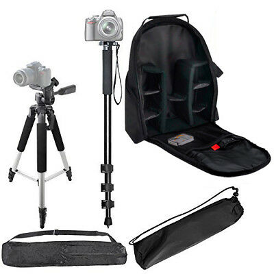 "57"" Tripod + 72"" Monopod + Backpack for DSLR Cameras/Camcorders"