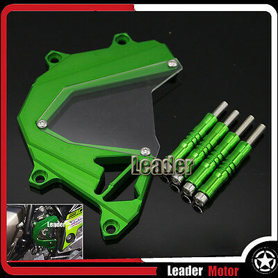 For KAWASAKI Z800 Front Sprocket Cover Panel Left Engine Guard Chain Cover Green
