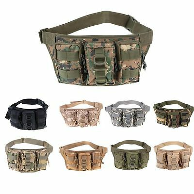 Camo Outdoor Fishing Riding Bag Sports Pack Shoulder Lure Storage Waist Pockets