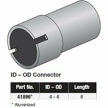 """Walker Exhaust Exhaust Pipe Connectors 3/"""" ID To 3/"""" OD Length 12/"""" Aluminized Each"""
