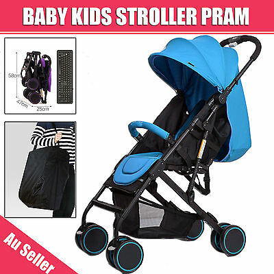 Compact Lightweight Baby Kids Stroller Pram Folding Travel Buggy Carry On Plane