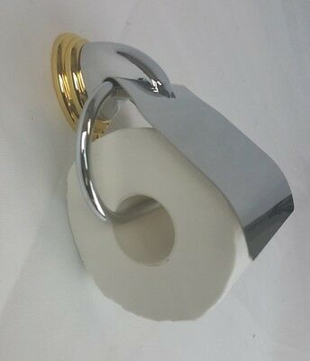 Bradley Avalon Chrome & Gold Toilet Roll Holder - Bathroom Accessories