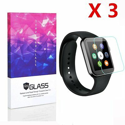 Apple Watch Screen Protector Tempered Glass Full Coverage 9H Hardness (3pcs)
