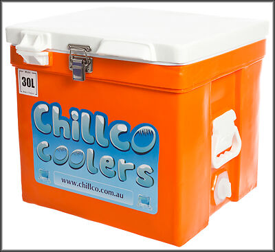 30L Chillco Ice Box Cooler Chilly Bin Superior Ice Retention-Rrp $250