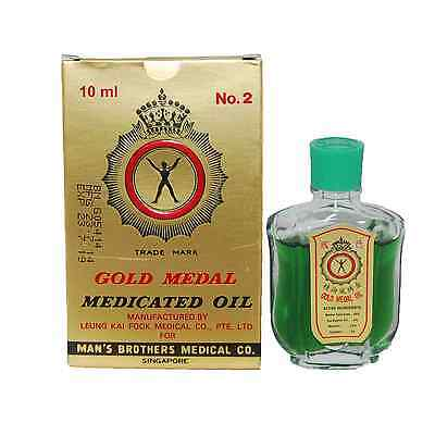 Gold Medal Medicated Oil 10ml For Cough, Cold, Headache, Muscle Pain