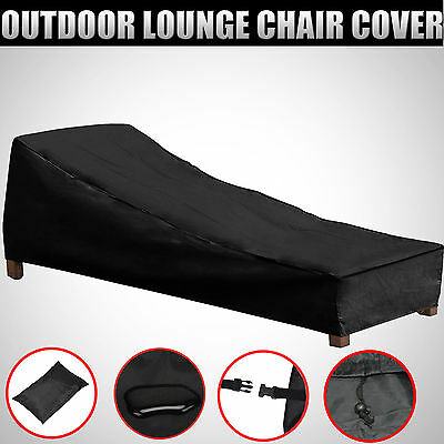 Patio Sun Lounge Chair Cover Outdoor Furniture Weather Protector 200cm