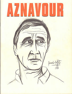 Charles Aznavour - Tour Book 1997 + Concert Ticket 2002 Amsterdam