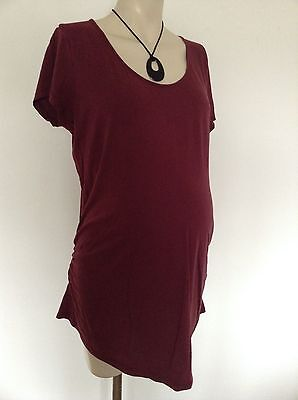 [305] New Look Maternity short sleeved Maroon Top Size 18