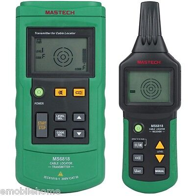 MASTECH MS6818 Cable Tracker Pipe Locator Detector Network Telephone Line Tester
