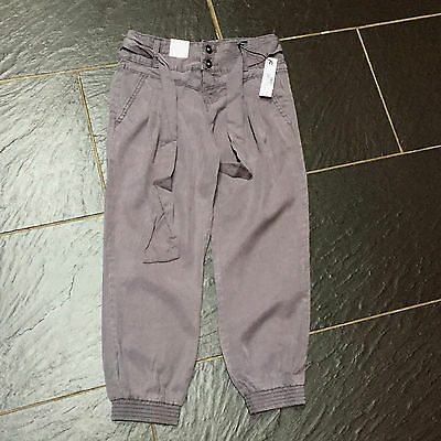 M&S Autograph Girls Grey Adjustable Waist Trousers 9 Years Brand New £18