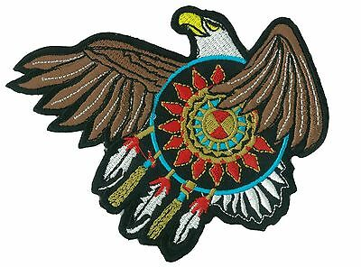 Patche écusson brodé Aigle Indien Sioux thermocollant applique ecusson patch