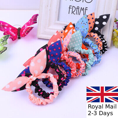 4pc Girls Hair Band Bobbles Elastic Stretch Pony Tie Hair Accessories