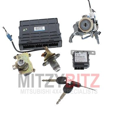ENGINE ECU, IGNITION BARREL & KEY for MITSUBISHI SHOGUN 3.2 DID MK3 2001-2002