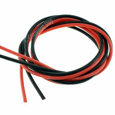 16AWG Silicone Wire Super flexible high temperature 1m Red & 1m Black UK seller