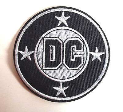 "DC COMICS Logo 3"" Tall Embroidered Patch-FREE S&H (DCPA-15)"