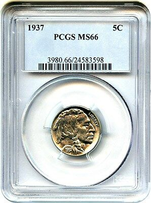 1937 5c PCGS MS66 - Buffalo Nickel