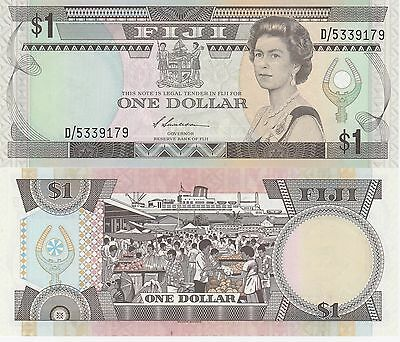 Fiji Islands,1 Dollar Banknote,(1987) Uncirculated Condition Cat#86-A-9179
