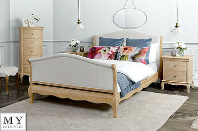 Miraval French provence  Weathered solid Oak - Shabby chic  Bed 4ft6/5ft/6ft