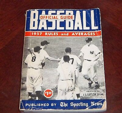 the sporting news Official Baseball guide and record book 1957 Mantle and Berra