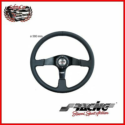 Volante Sportivo in Eco-Pelle Nera - Simoni Racing DEF/P 380mm