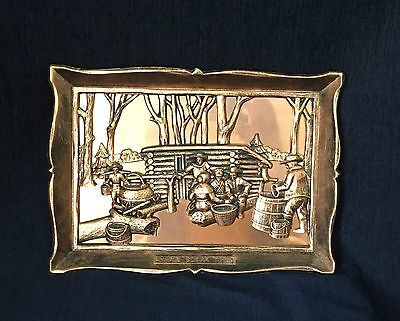 Vintage Coppercraft Guild Maple Sugar Time Wall Hanging