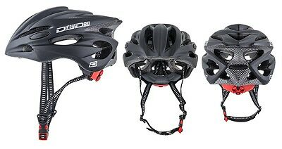Dirty Dog Trident Adults Bike Cycling Cycle Helmet in Matte Black - 54 - 60cm