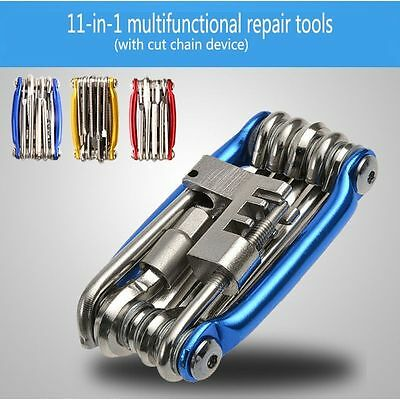 11 in 1 Bicycle Bike Cycling Multi Function Spanner Wrench Repair Tool Kit