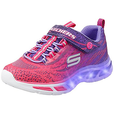 SCARPE BAMBINA SKECHERS S LIGHTS LITEBEAMS con lucine led luci ginnastica infant