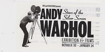 Andy Warhol Sticker Stars Of Silver Screen Exhibit TIFF Art Hollywood Actresses