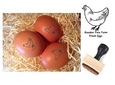 Personalised EGG STAMP - Wooden Mounted - 12mm ideal for use with food grade ink