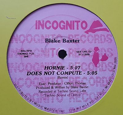 "Blake Baxter / Hornie Ep 12"" Uk 2004 Rp Techno/acid House Does Not Compute 1988"