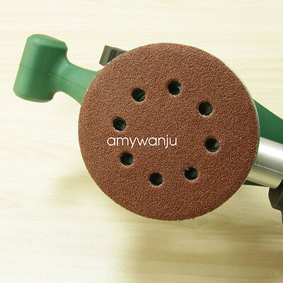 25PC 125mm Abrasive Sanding Paper Disc with 60~1500 Grits 8 Hole Hook & Loop
