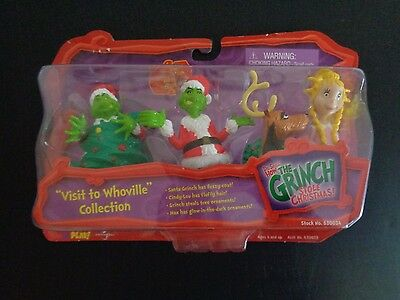 Dr Seuss THE GRINCH THAT STOLE CHRISTMAS Whoville NEW Action Set 4 Figures