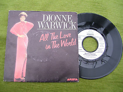 """DIONNE WARWICK """"All the love in the world / It makes no difference """" Arista 1983"""