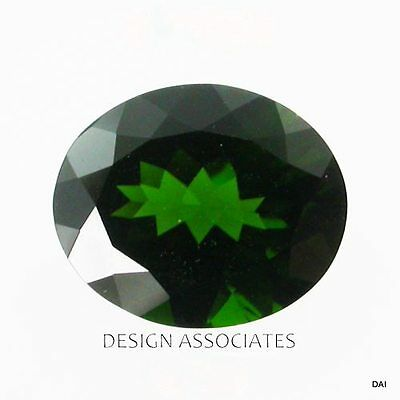 Chrome Diopside 13X10 Mm Oval Cut Radiant Russian Green Collector  Stone