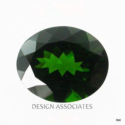 Chrome Diopside 17.65X13.35 Mm Oval Cut Radiant Russian Green Collector Stone